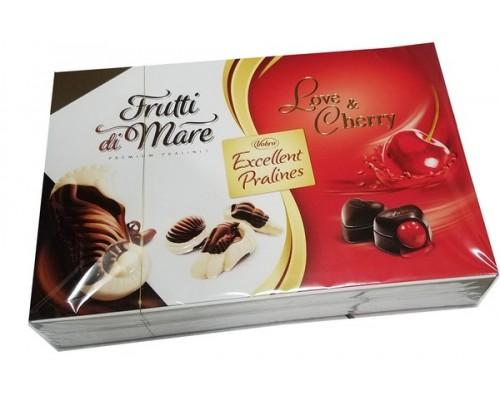 Вобро Отличное пралине  шоколадные  конфеты картон 330 гр, высок. кор