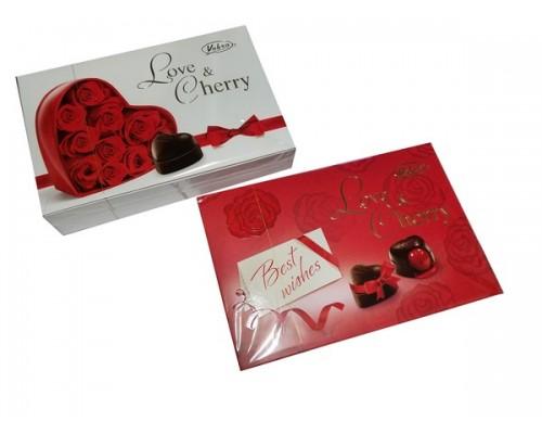 Вобро Вишня в ликере  шоколадные  конфеты картон 290 гр, высок. кор