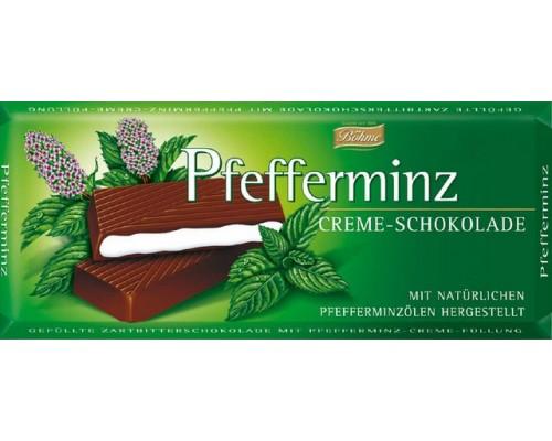 Боме темный шоколад  с мятой  62% 100гр