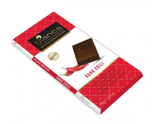 Bianca шоколад  темный  с чили (dark chili) 100г
