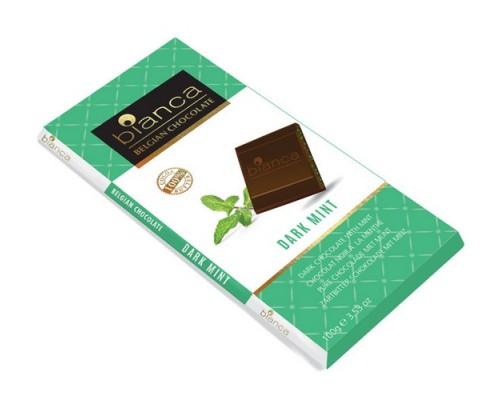 Bianca шоколад  темный  с мятным вкусом (dark mint) 100г