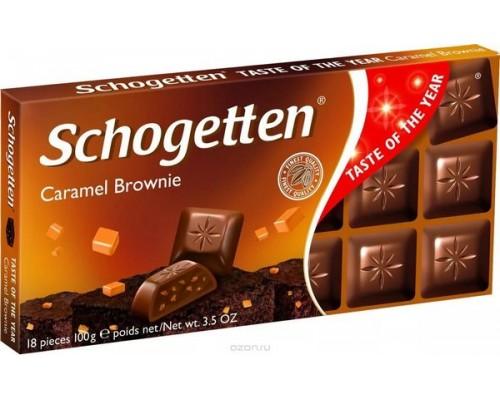 Шогеттен Молочный шоколад с шоколадным кремом брауни и карамелью 100гр