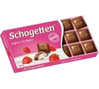 Шоколад Schogetten Молочный с клубничной начинкой 100гр