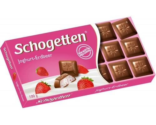 Шогеттен Молочный шоколад с клубничной начинкой 100гр