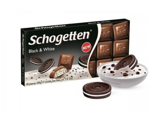 Шоколад Schogetten Молочный с ванильной начинкой и кусочками печенья 100г