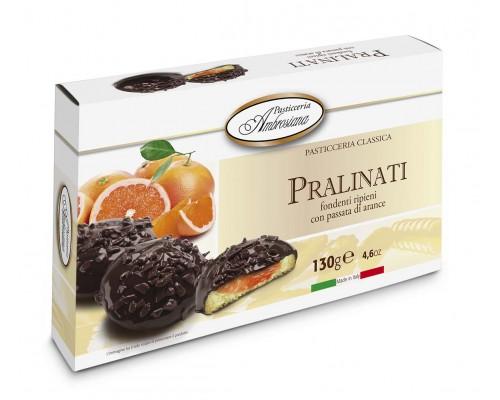 "Амброзиана Печенье в шоколаде ""Пралинати"" с апельсин.начинкой (Pralinati di arance) 130г"