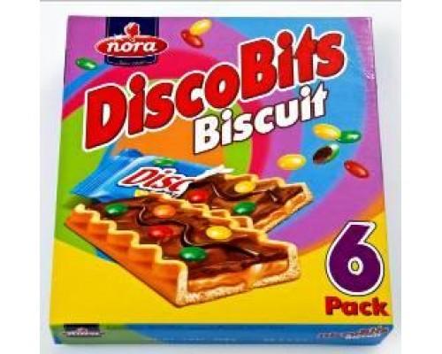 """Нора Печенье с карамельным кремом, молоч.шок.и драже """"DiscoBits"""" (27г*6) 162г"""