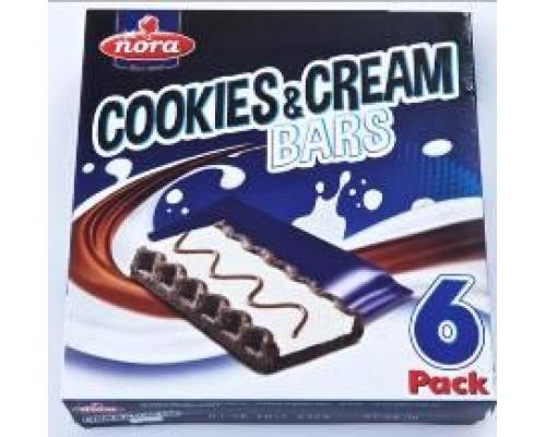 """Нора Печенье с какао, с белым кремом и молоч.шок.""""Cookies&Cream"""" (25г*6) 150г"""