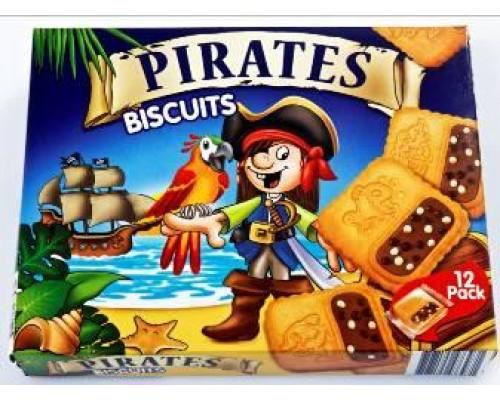 """Нора Печенье с шок. кремом и возд. рисом """"Pirates"""" (ПИРАТЫ)  (14.6г*12) 175г"""