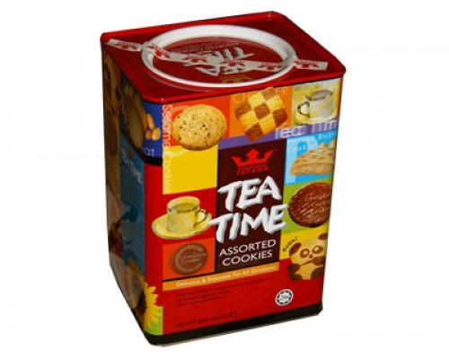 Татава Ти Тайм печенье 800 гр (выс.многогран.) орехи, злаки, шок.кр.