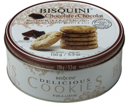 Бисквини печенье с кусочками шоколада 150 гр