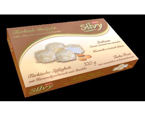 Себахат Рахат-лукум со вкусом карамели и миндалем (Silvy)  320г