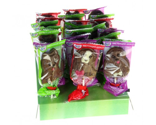 МОК Собачки молочный шоколад на палочке, 24гр.[1/24шт]