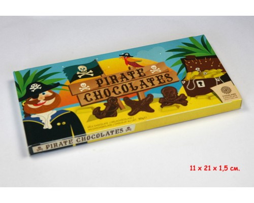 Пираты Фигурки из молочного шоколада  90гр