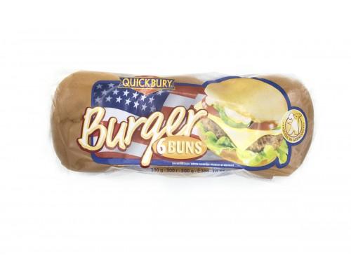 Булочка для Гамбургера Quickbury без кунжута (6шт.х50г) 300г[1/8шт]