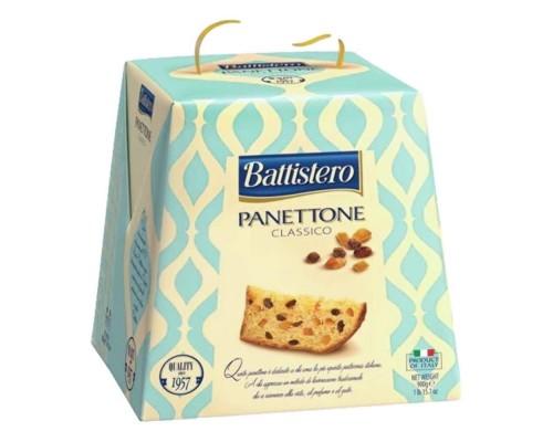 Кулич Battistero Panettone с изюмом и цукатами на сливочном масле 900гр