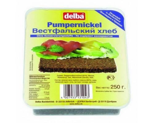 """Хлеб Делба """"Pumpernickel"""" вестфальский, ржаной, грубого помола 250гр"""