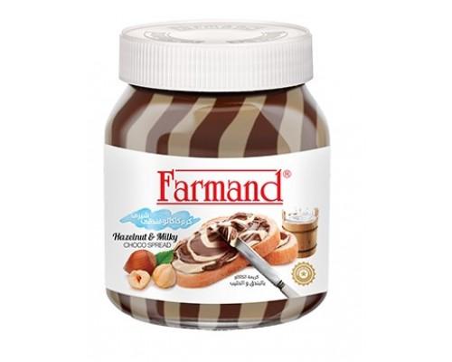 Шоколадная паста Farmand с молоком и фундуком 330гр