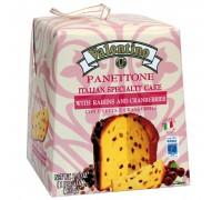 Кулич пасхальный Panettone VALENTINO с изюмом и клюквой 500г