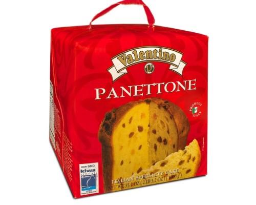 Кулич пасхальный итальянский панеттоне с изюмом и цукатами VALENTINO 1000г