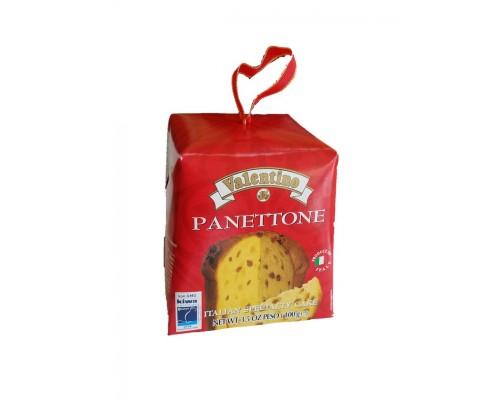Пасхальный кулич итальянский панеттоне с изюмом и цукатами VALENTINO 100г