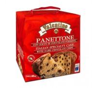 Кулич пасхальный Panettone VALENTINO с кусочками шоколада 750г