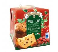 Кулич пасхальный Panettone VALENTINO с изюмом и клюквой 750г