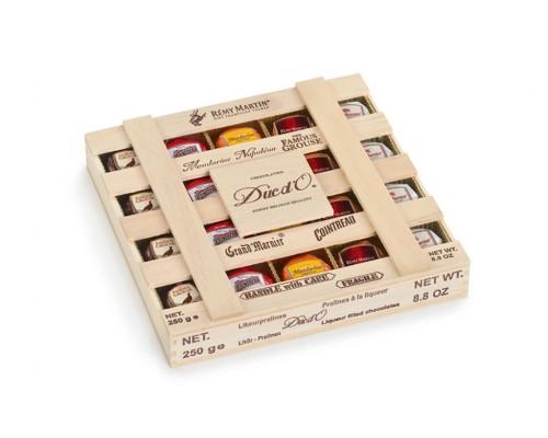 Дюк До Конфеты Ликерные в деревянной коробке 250 гр