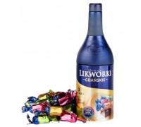 Ассорти шоколадных конфет с алкогольной начинкой Baltyk Ликворки Гданьские со вкусом бренди, клюквенный ликер, зубровка  (ж/б) 120гр