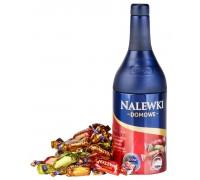 Ассорти шоколадных конфет с алкогольной начинкой Baltyk Наливка Домашняя со вкусами: вишневой, айвовой, ореховой настоек  (ж/б) 120гр