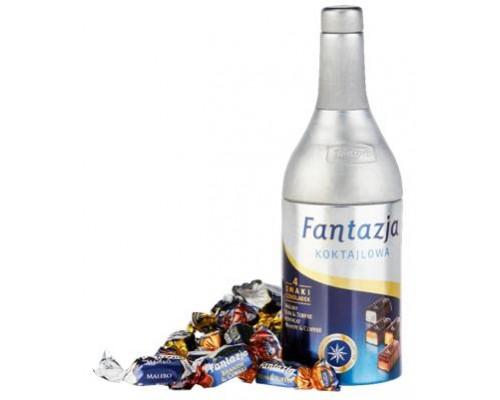 Ассорти шоколадных конфет с алкогольной начинкой Baltyk Фантазия коктейльная  ассорти конфет с ликером  (ж/б) 120гр