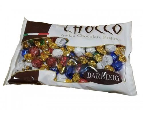 BARBIERI CHOCCO Ассорти №1 (с кокосовой кремовой, с какао кремовой, с молочной кремовой и  с ореховой кремовой начинками) 1000г