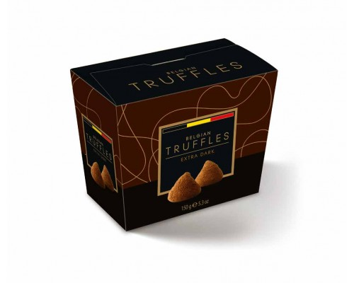 Belgian Truffles Трюфели  со вкусом темного шоколада (extra dark ) 150г