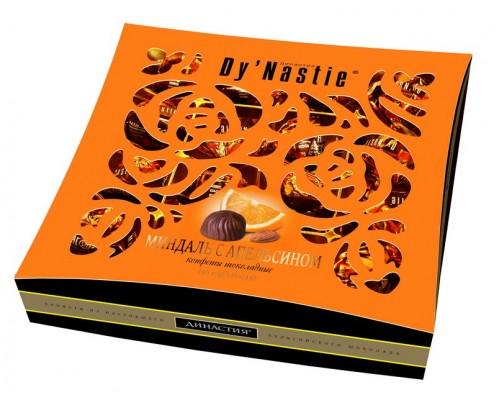 Династия  Миндаль с апельсином- квадр. коробка с окошком  145 гр