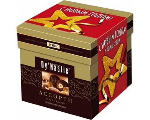 Династия Ассорти с орехами куб 100гр.