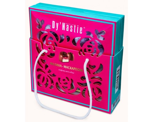 Шоколадные Конфеты  Dy'Nastie Малина-Маскарпоне сумочка 170гр