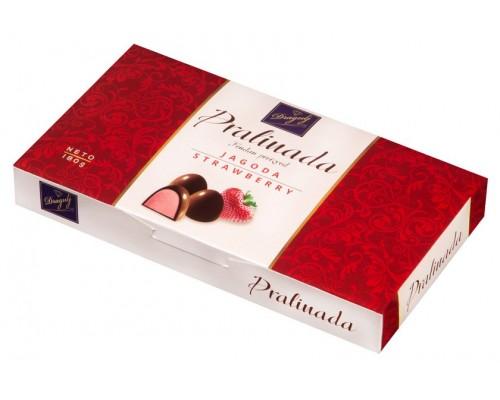 Конфеты Пралинада клубника с какао глазурью 180 гр