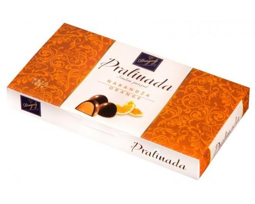 Конфеты Пралинада апельсин с какао глазурью 180гр