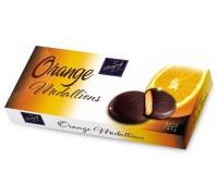 Шоколадные Медальоны с апельсиновой начинкой 145 гр