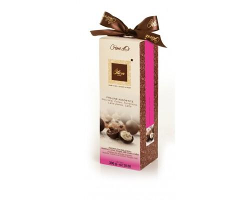 Шоколадные конфеты DULCIOLIVA  с начинкой пралине ассорти   Crème d'Or (Tulip) 300г