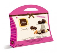 Шоколадные конфеты DULCIOLIVA  с начинкой пралине ассорти Crème d'Or (сумочка) 150г