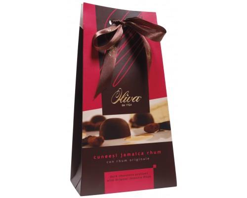 Шоколадные конфеты DULCIOLIVA  с нач.пралине с ромом 160г Cuneesi Jamaica Rhum (Tiffany)