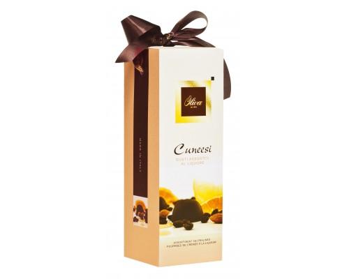 Шоколадные конфеты DULCIOLIVA  с начинкой пралине с ликёр.наполнит. 300г Cuneesi (Tulip)