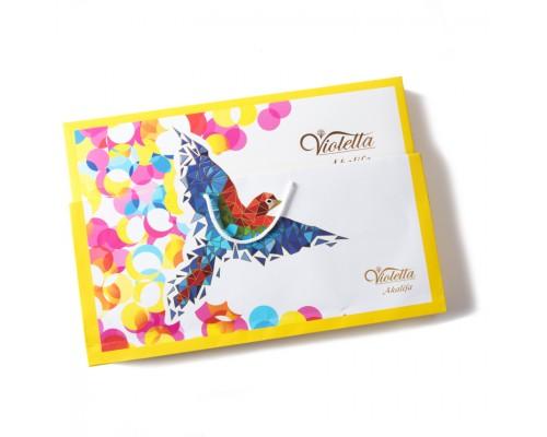 """Шоколадные конфеты Farmand Акалифа """"Попугай"""" Виолетта 187гр  в сумочке"""