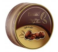 Шоколадное драже Farmand с зернами кофе 75 гр. в жестяной баночке