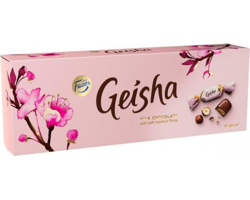 FAZER Гейша шоколадные конфеты с начинкой из тертого ореха 350 г