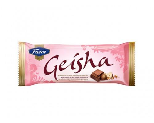 FAZER Гейша шоколад плиточный с начинкой из тертого ореха 100 г.