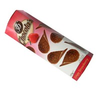 Гамлет Чипсы молочный шоколад с клубникой  125 гр