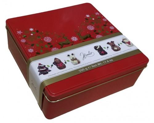 Шоколад фигурный Hamlet Новогодние олени ассорти 500 гр