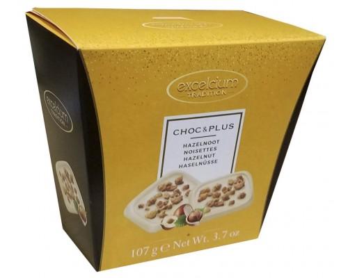 Шоколад мини Hamlet ЧОК ПЛЮС   белый с лесным орехом 107 гр
